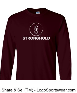 Stronghold (White)/Maroon Design Zoom